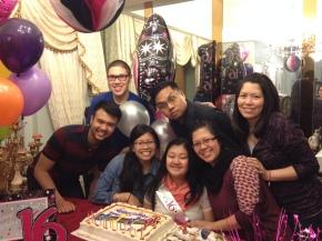 Family Birthday, March 2014